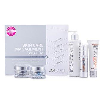 Skin Care Management System Набор: Очищающее Средство + Защита для Лица + Сыворотка для Лица + Крем для Лица + Антивозрастной Крем для Лица (для Сухой и Очень Сухой Кожи) 5pcs StrawberryNET 15361.000