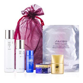 ShiseidoPromoci�n Set : Loci�n 75ml + Hidratante 30ml + Limpiador 20ml + Pantalla Solar SPF 50 12ml + Crema Revitalizante 6ml + Mascarilla 6pcs
