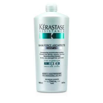 KerastaseResistance Bain Force Architecte Reconstructing Shampoo (For Brittle, very Damaged Hair, Split Ends) 1000ml/34oz