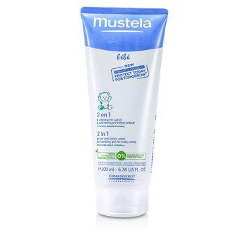 Mustela 2 In 1 Gel Cabello y Cuerpo  200ml/6.76oz