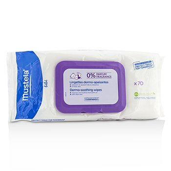 MustelaDermo-Soothing Wipes - Fragrance Free 70wipes