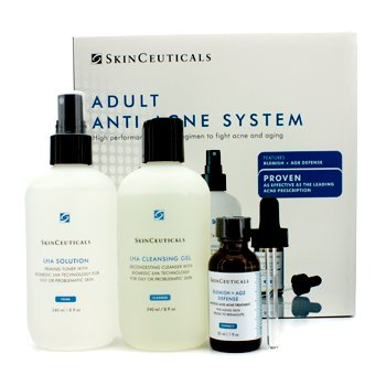 Skin CeuticalsAdult Anti-Acne System: Cleansing Gel 240ml + Toner 240ml + Acne Treatment 30ml 3pcs