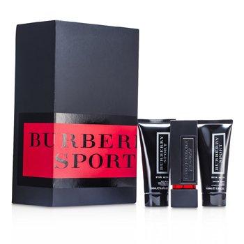 Burberry Sport for Men Набор: Туалетная Вода Спрей 75мл/2.5унц + Гель для Душа 100мл/3.3унц + Бальзам после Бритья 100мл/3.3унц 3pcs