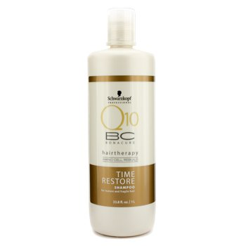 SchwarzkopfBC Time Resotre Q10 Shampoo (For Mature & Fragile Hair) 1000ml/33.8oz
