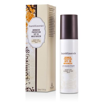Bare Escentuals BareMinerals Advanced Protection SPF 20 Moisturizer Sheer Tint (Normal To Dry Skin)  50ml/1.7oz