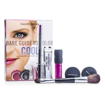 MakeUp SetBare Guide To Color - # Cool (Primer Shadow + Eyecolor + Eyeliner + Blush + Lip Gloss + Brush) 6pcs