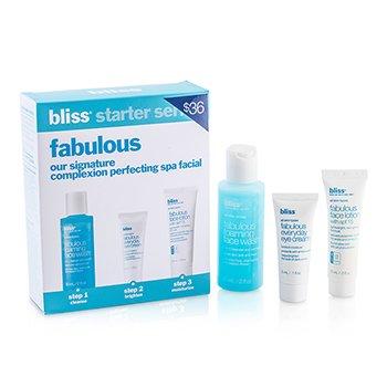 Bliss Fabulous Starter Kit: Foaming Face Wash 60ml + Eye Cream 5ml + Face Lotion 15ml  3pcs