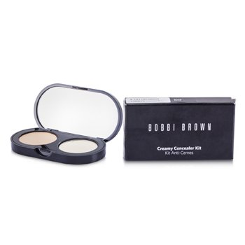 Bobbi Brown New Creamy Concealer Kit – Sand Creamy Concealer + Pale Yellow Sheer Finished Pressed Powder 3.1g/0.11oz