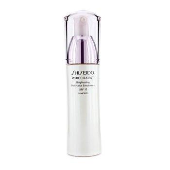 Shiseido თეთრი გამჭვირვალობა დამცავი. ემულსია W SPF 15 (დამზადებულია აშშ-ში) 75ml/2.5oz