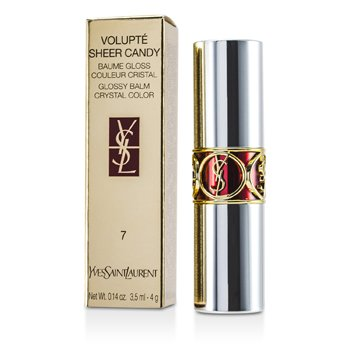 Yves Saint Laurent Volupte Sheer Candy Lipstick (Glossy Balm Crystal Color) - # 07 Sweet Fig 4g/0.14oz