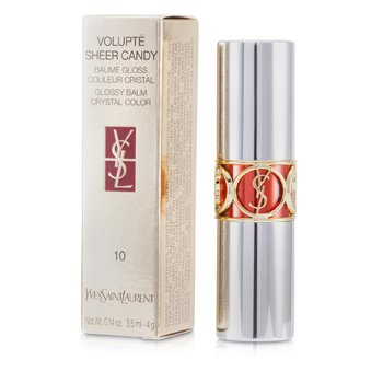 Yves Saint Laurent Volupte Sheer Candy Lipstick (Glossy Balm Crystal Color) – # 10 Tangy Mandarine 4g/0.14oz