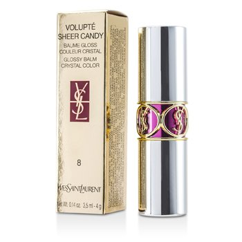 Yves Saint Laurent Volupte Sheer Candy Lipstick (Glossy Balm Crystal Color) - # 08 Iced Plum 4g/0.14oz
