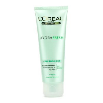 L'OrealDermo-Expertise HydraFresh Instant Freshness Gel Foam (Combination to Oily Skin) 100ml/3.3oz