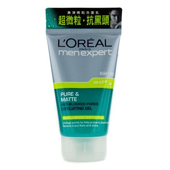 L`Oreal Men Expert Pure & Matte Anti-Blocked Pores Exfolicating Gel 100ml / 3.4oz
