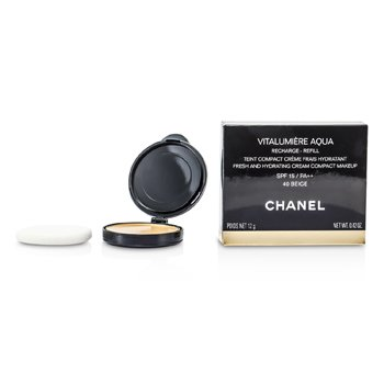 Chanel Vitalumiere Aqua Fresh And Hydrating Cream Compact MakeUp SPF 15 Refill - # 40 Beige  12g/0.42oz