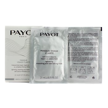 PayotAbsolute Pure White Masque Visage Clarte Lightening Smoothing And Redensifying Mask 5x21ml/0.71oz