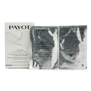 PayotAbsolute Pure White Express Eye Smoothing Lightening Mask 10x1.5ml/0.05oz