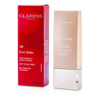 Clarins Ever Matte Skin Balancing Oil Free Foundation SPF 15 - # 109 Wheat  30ml/1.1oz