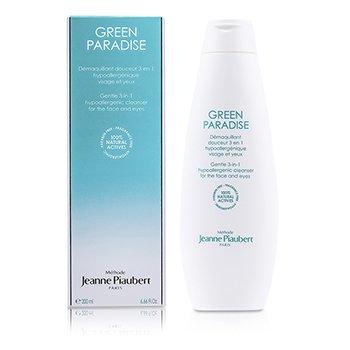 Methode Jeanne Piaubert Green Paradise Gentle 3-In-1 Hypoallergenic Cleanser (For Face & Eyes)  200ml/6.66oz