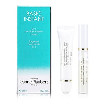 Methode Jeanne PiaubertBasic Instant Targeted Anti-Wrinkle Duo (For Face) 2x9ml/0.3oz