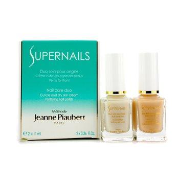 Methode Jeanne PiaubertSupernails Nail Care Duo Cuticle & Dry Skin Cream - Nail Polish 2x11ml/0.36oz