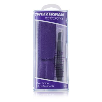 TweezermanProfessional V Cuticle Nipper for Trimming Cuticles & Hangnails - (With Lavender Pouch)