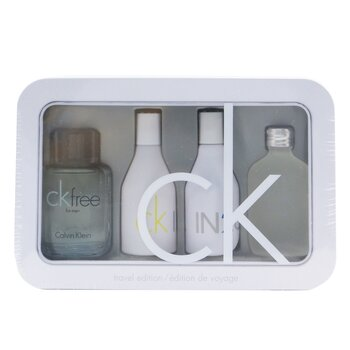 Calvin KleinTravel Edition Coffret: CK One Edt 15ml/0.5oz + CK Free Edt 10ml/0.33oz + IN2U Women Edt 15ml/0.5oz + IN2U Men Edt 15ml/0.5oz 4pcs