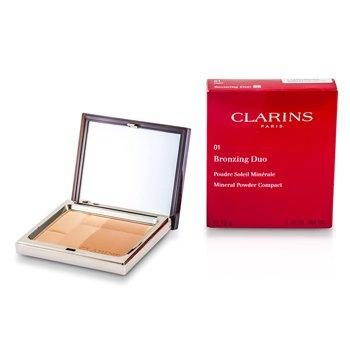 Clarins Br�zuj�cy puder prasowany Bronzing Duo Mineral Powder Compact SPF 15 - 01 Light  10g/0.35oz