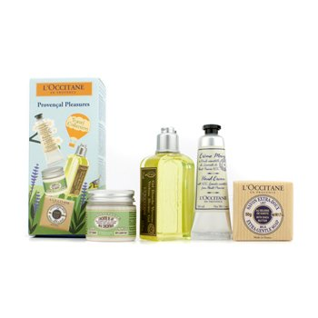 L'Occitane Provencal Pleasures Set: Shower Gel 75ml + Soap 50g + Milk Concentrate 50ml + Hand Cream 30ml  4pcs