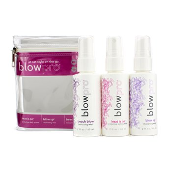 BlowPro Jet Blow Mini Kit: Heat is On Protective Styling Mist 60ml + Blow Up Thickening Mist 60ml + Beach Blow Texturizing Mist 60ml  3pcs