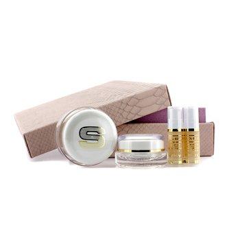 SisleyAnti Age Prestige Kit Sisleya Global Anti Age Cream 50ml Sisleya Eye Lips Contour Cream 15ml Sisleya Elixir 5ml x 2 4pcs