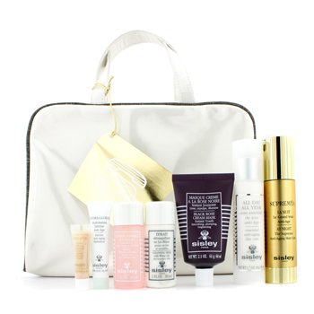 Sisley Supremya Kit: Supremya + All Day All Year + Black Rose Cream Mask + Floral Toning Lotion + Cleansing Milk + Firming Serum + Bag  8pcs