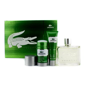 Lacoste Lacoste Essential Coffret: Eau De Toilette Spray 125ml/4.2oz + Deodorant Stick 75ml/2.4oz + Shower Gel 50ml/1.6oz  3pcs