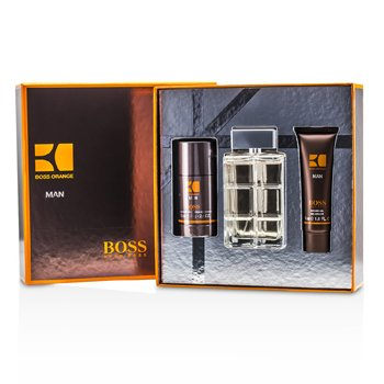 Hugo Boss Boss Orange Man Coffret: Eau De Toilette Spray 100ml/3.3oz + Desodorante en Barra 70g/2.4oz + Gel de Ducha 50ml/1.6oz  3pcs