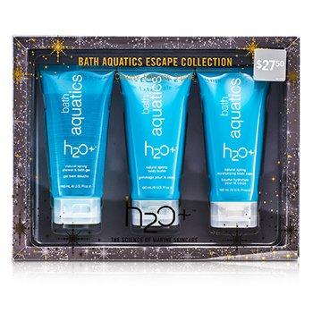 H2O+ Bath Aquatics Escape Collection: Bath Gel 180ml + Body Buffer 180ml + Body Balm 180ml  3pcs