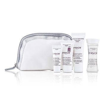 PayotKit Absolute Pure White Kit: Lo��o 30ml +  Mousse Clarte 25ml + Clarte Du Jour 15ml + Concentre Anti-soif Clarte 15ml 4pcs