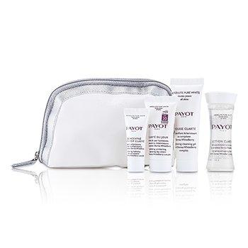 PayotKit Absolute Pure White Kit: Lo��o 30ml +  Mousse Clarte 25ml + Clarte Du Jour 15ml + Concentre Anti-soif Clarte 15ml 4pcs