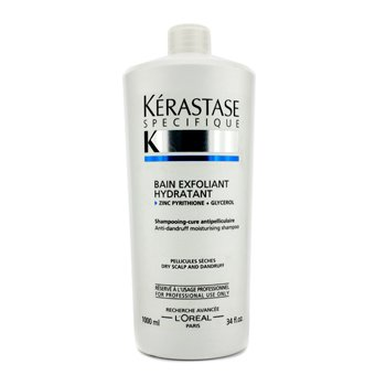 KerastaseSpecifique Bain Exfoliant Hydratant Anti-Dandruff Moisturising Shampoo (For Dry Scalp) 1000ml/34oz
