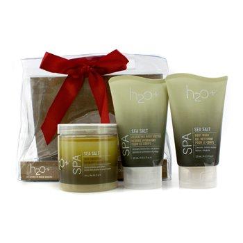 H2O+Sea Salt Spa Trio: Sea Salt Body Wash 120ml + Sea Salt Skin Smoother 340g + Sea Salt Hydrating Body 3pcs