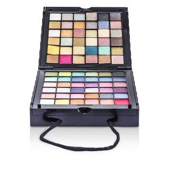 CameleonMakeUp Kit 398: (72x Eyeshadow, 2x Powder, 3x Blush, 8x Lipgloss, 1x Mini Mascara, 6x Applicator)