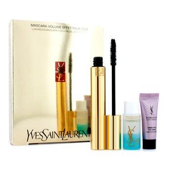 Mascara Volume Effet Faux Cils Shocking Set: (1x Mascara, 1x Eye Creme, 1x Eye Makeup Remover)3pcs
