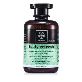 Apivita Body Refresh Refreshing Bath And Shower Gel with Aloe & Fig 300ml/10.2oz