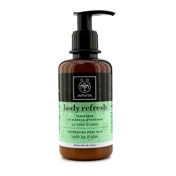 Apivita Body Refresh Refreshing Body Milk with Aloe & Fig 200ml/7.05oz