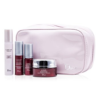 Christian Dior Capture Totale Travel Set: Treatment Mask 15ml + One Essentail Serum 5ml + Multi-Perfection Serum 7ml + Eye Serum 5ml + Bag  4pcs+1bag