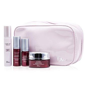 Christian DiorCapture Totale Travel Set: Treatment Mask 15ml + One Essentail Serum 5ml + Multi-Perfection Serum 7ml + Eye Serum 5ml + Bag 4pcs+1bag