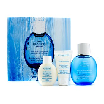 ClarinsEstuche Eau Ressourcante: Spray Rebalanceador 100ml/3.4oz + Crema Corporal 50ml/1.7oz + Gel de Ducha  50ml/1.7oz 3pcs