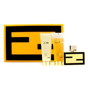 FendiFan di Fendi Extreme Coffret: Eau De Parfum Spray 50ml/1.7oz + Bath & Shower Gel 75ml/2.5oz + Body Lotion 75ml/2.5oz 3pcs