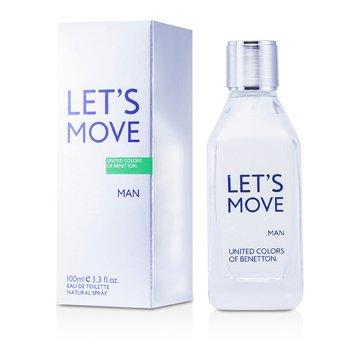 Benetton Let's Move Туалетная Вода Спрей 100ml/3.3oz