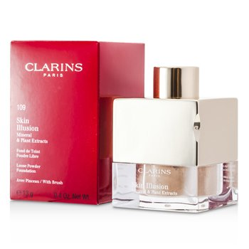 Clarins Mineralny podk�ad sypki z ekstraktami ro�linnymi Skin Illusion Mineral & Plant Extracts Loose Powder Foundation (z p�dzelkiem) - #109 Wheat  13g/0.4oz