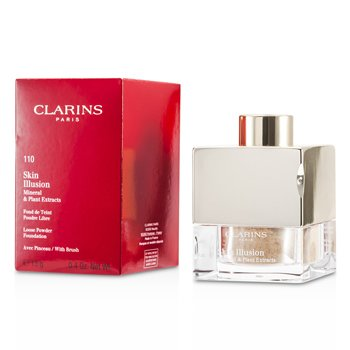 ClarinsSkin Illusion Mineral & Plant Extracts Loose Powder Foundation (With Brush) - # 110 Honey 13g/0.4oz